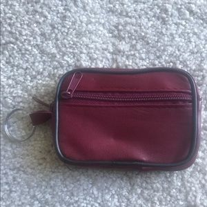 Accessories - Burgundy Faux Leather Coin Purse NWOT